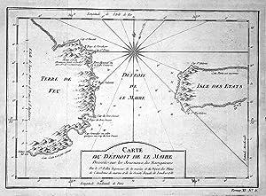 """Carte du Detroit de le Maire"""" -: Bellin, Jacques-Nicolas:"""