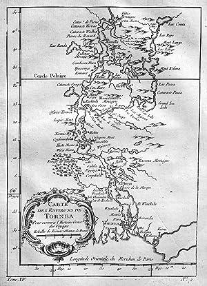 """Carte des environs de Tornea"""" - Tornio: Bellin, Jacques-Nicolas:"""