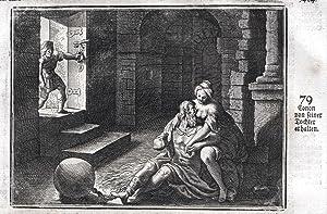 """Conon von seiner Tochter erhalten"""" - Konon: Merian, Matthaeus:"""