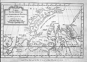 Carte des pais habites par les Samojedes: Bellin, Jacques-Nicolas: