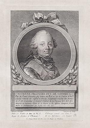 """Etienne Francois Duc de Choiseul."""" - Etienne-Francois: Launay, N. de"""
