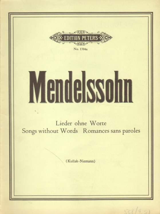 Mendelssohn Lieder Ohne Worte