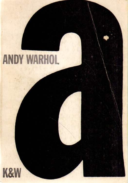 A. Ein Roman.: Warhol, Andy: