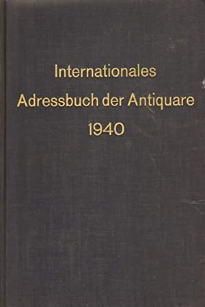 Internationales Adressbuch der Antiquare 1940.