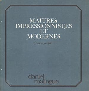 Maitres impressionnistes et modernes.