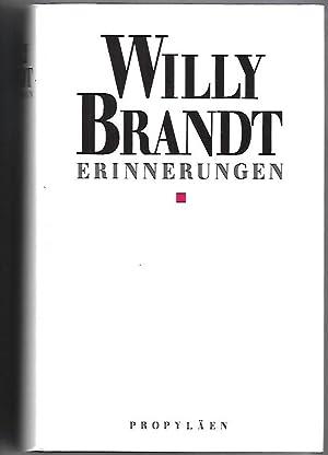 Erinnerungen. Signierte Ausgabe.: Brandt, Willy: