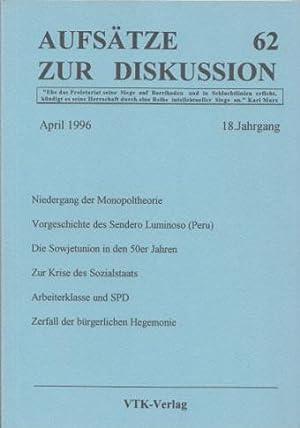 Aufsätze zur Diskussion (AzD) Nr. 62 /: Weiß, Manfred und