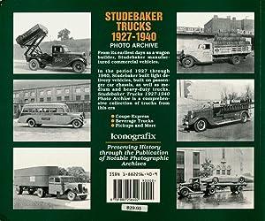 Studebaker Trucks 1927-1940 Photo Archive: Applegate, Howard L.