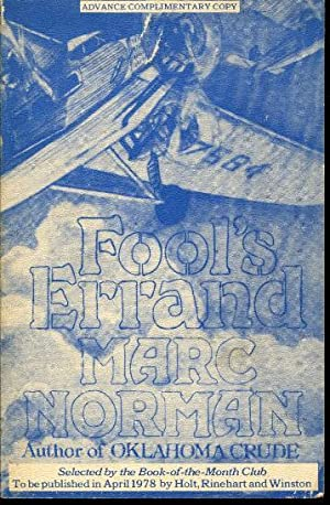 Fool's Errand (advance complimentary copy): Norman, Marc