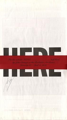 John Gossage: Here. Half Blind, Limited Edition: GOSSAGE, John, DOUGLAS,