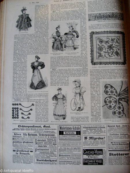 Illustrirte Frauen-Zeitung. Ausgabe der Modenwelt mit Unterhaltungsblatt.