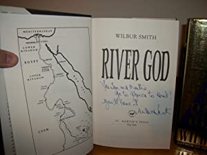 Very Rare - SIGNED - RIVER GOD & SEVENTH SCROLL - 1st American editions: Wilbur Smith (Wilbur A...