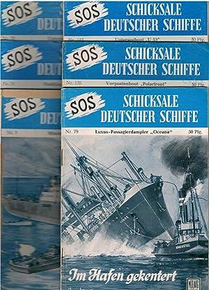 Konvolut: SOS Schicksale deutscher Schiffe 6 Hefte und Der Landser präsentiert: SOS ...