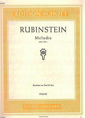Rubinstein Melodie Op.3 No. 1: Rubinstein, Anton