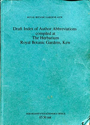 Draft Index of Author Abbreviations compiled at: Meikle, R D
