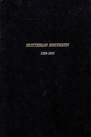 The Hutterian Brethren 1528-1931, a story of: Horsch, John