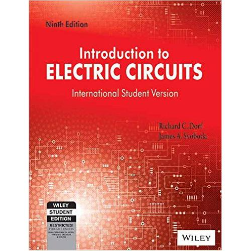introduction to electric circuits (edn 9) de richard c dorf, jamesintroduction to electric circuits (edn 9) richard c dorf, james a