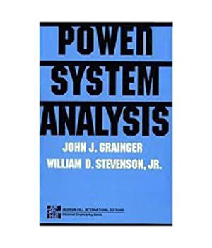 Power System Analysis (EDN 1): John J. Grainger,