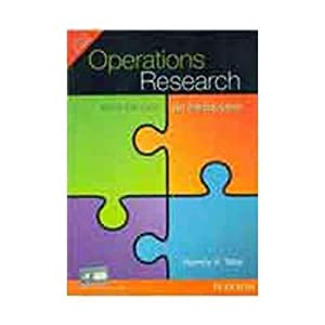 Operations Research: An Introduction (EDN 9): Hamdy A. Taha