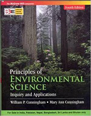 Principles Of Environmental Science: Inquiry And Applications: Mary Ann Cunningham,