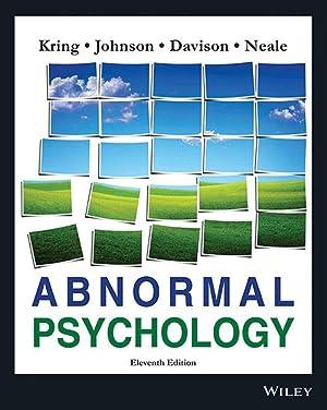 Abnormal Psychology (EDN 11): Gerald C. Davison,