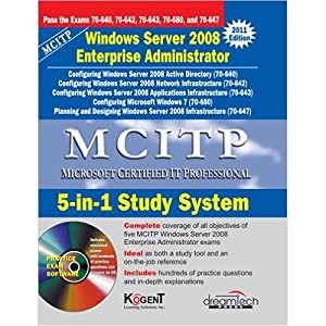 MCITP: 5-In-1 Study System, Windows Server 2008: Kogent Learning Solutions