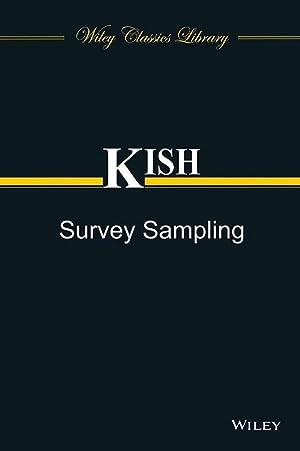 SURVEY SAMPLING (EDN 1): LESLIE KISH