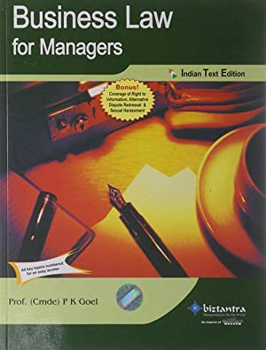 Business Law for Managers (EDN 1): P.K. Goel