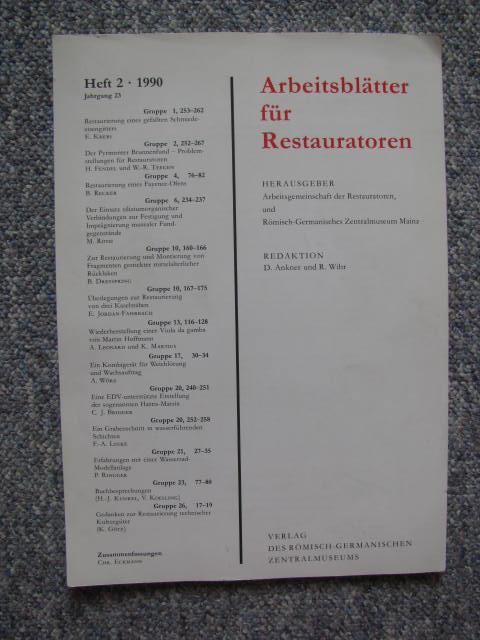 arbeitsblätter für restauratoren - ZVAB