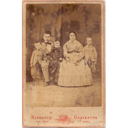 Vintage Photo Portrait of an Italian Family