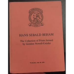 The Collection of Prints formed by Gordon: Hans Sebald Beham