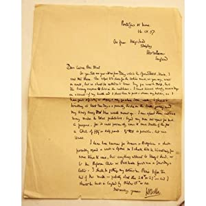 Letter from Hilaire Belloc to Countess Pecci Blunt from Portofino