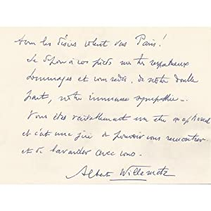 A message from Albert Willemetz to the Countess Anna-Laetitia Pecci-Blunt
