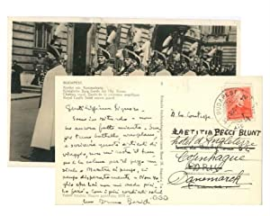 Letter from Bruno Barilli to the Countess Pecci Blunt
