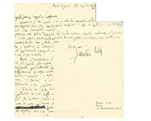Letter from Emilio Villa to Countess Pecci Blunt