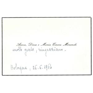 Condolence telegram of Morandi sisters