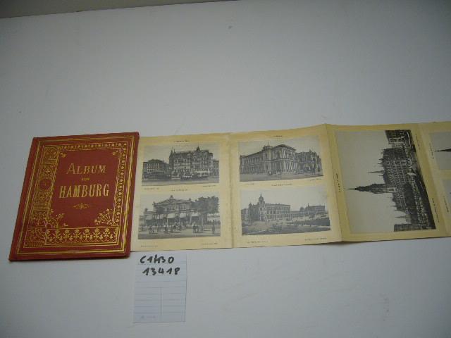 Leporello in Photolithographie. Mit 36 Ansichten.: Album von Hamburg.: