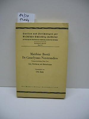 Matthiae Boetii de cataclysmo Norstrandico commentariorum libri: Boethius, Matthias: