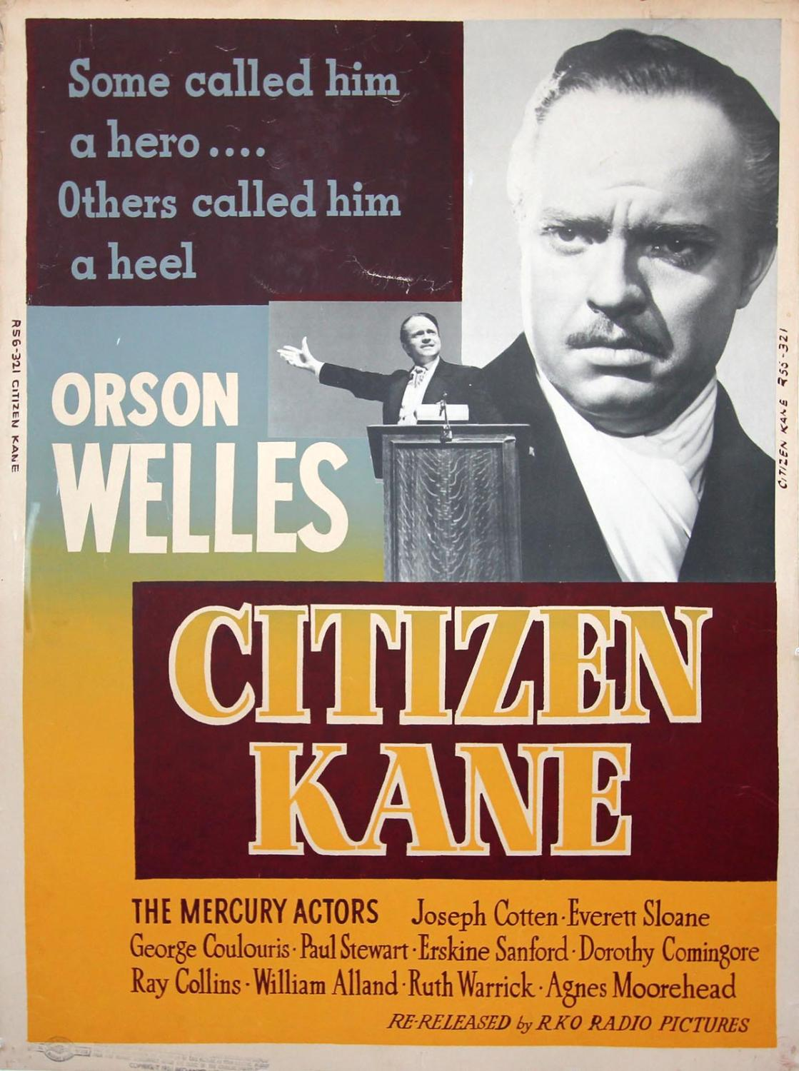 CITIZEN KANE (1941; 1956 reissue): Welles, Orson (director)