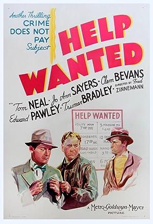 HELP WANTED (1939): Zinneman, Fred (director)