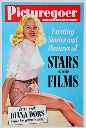 DIANA DORS PICTUREGOER MAGAZINE PROMOTIONAL POSTER (ca. 1955)