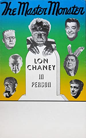 LON CHANEY IN PERSON MASTER MONSTER POSTER (ca. 1960)