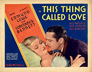 THIS THING CALLED LOVE (1929): Burke, Edwin J (adapted from)