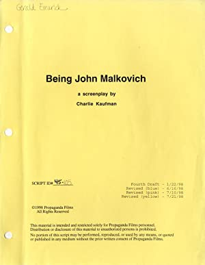 BEING JOHN MALKOVICH a screenplay by Charlie Kaufman, 1/22/98: Kaufman, Charlie (...