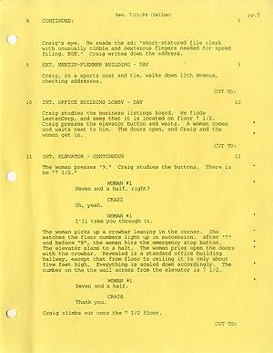VINTAGE FILM SCRIPT) BEING JOHN MALKOVICH a screenplay by Charlie Kaufman Fourth Draft 1/22&#...