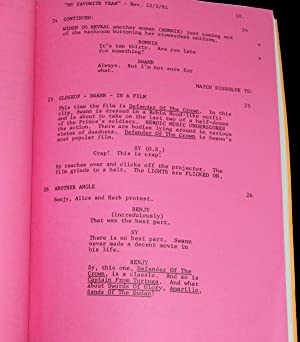MY FAVORITE YEAR (1981) REVISED FINAL DRAFT SCRIPT BY NORMAN STEINBERG: Steinberg, Norman (...
