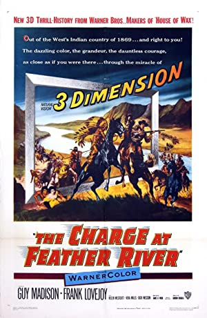3-D POSTER) CHARGE AT FEATHER RIVER, THE (1953): Douglas, Gordon (director)