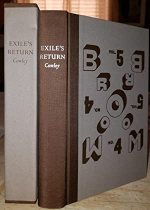 Exile's Return: A Literary Odyssey of the: Cowley, Malcolm