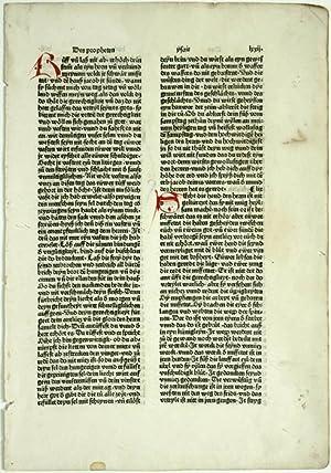Einzelnes Blatt aus: Biblia germanica (Achte deutsche