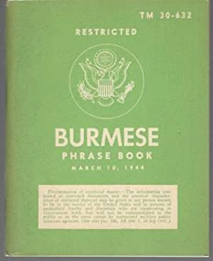 Burmese Phrase Book Restricted TM 30-632